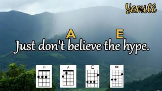 """LEARN TO PLAY """"THE HYPE"""" BY TWENTY ONE PILOTS ON UKULELE (WITH CHORDS AND LYRICS)"""