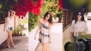Natural Light Photoshoot in California (Behind the Scenes model shoot)