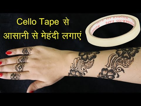 How To Apply Mehndi With Cello Tape | Latest Henna Mehndi Designs For Hands Easy With Cello Tape