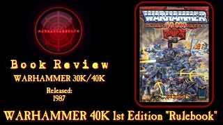 "Warhammer 40k 1st Edition Rulebook Review ""rogue Trader"" By Games Workshop"