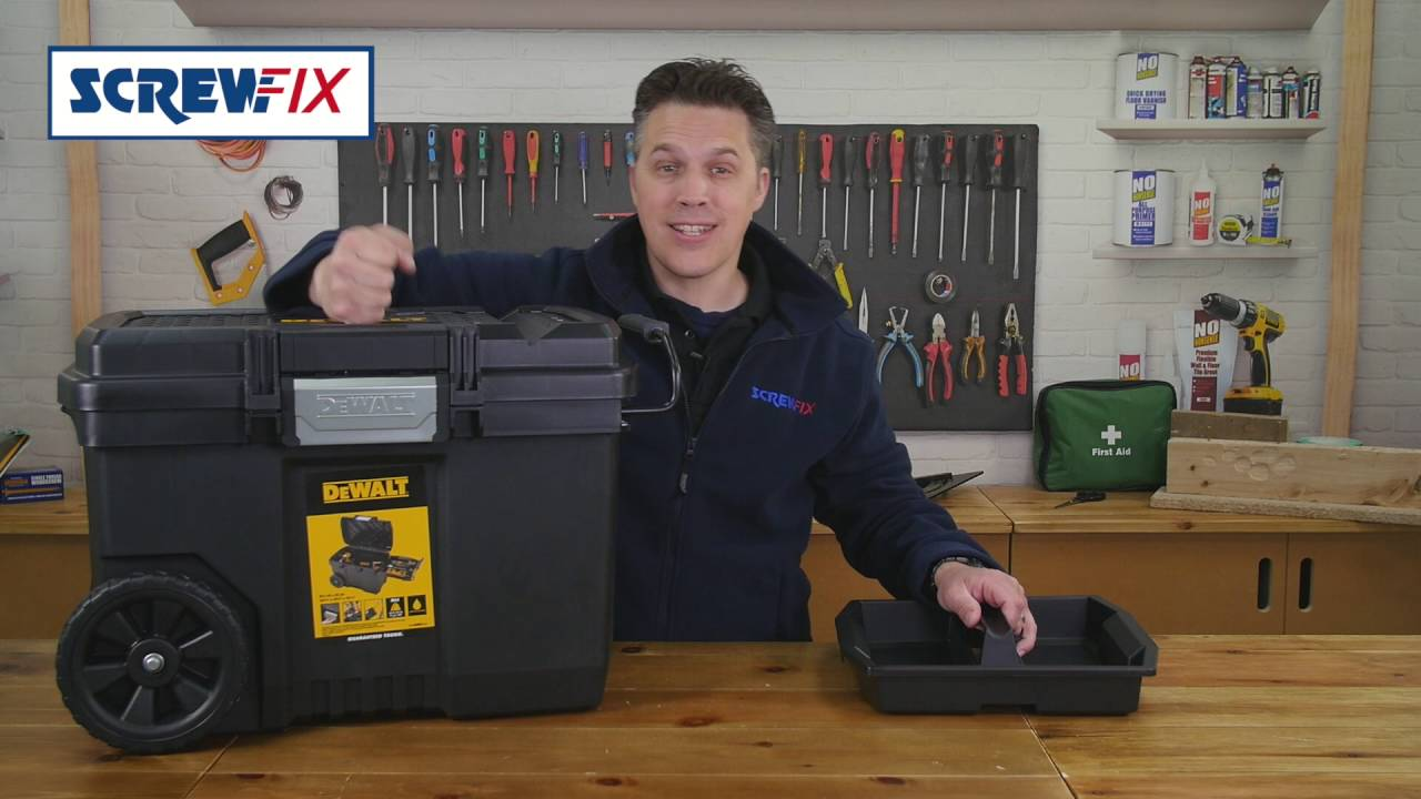 dewalt dwst1 73598 contractor tool chest screwfix youtube. Black Bedroom Furniture Sets. Home Design Ideas