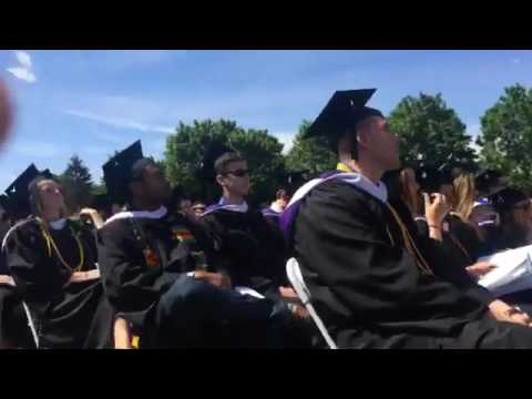 Dream big, focus small: Stonehill College graduates 66th class