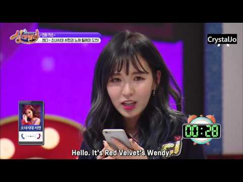 [ENG] Red Velvet's phonecall to Seohyun @ Singderella