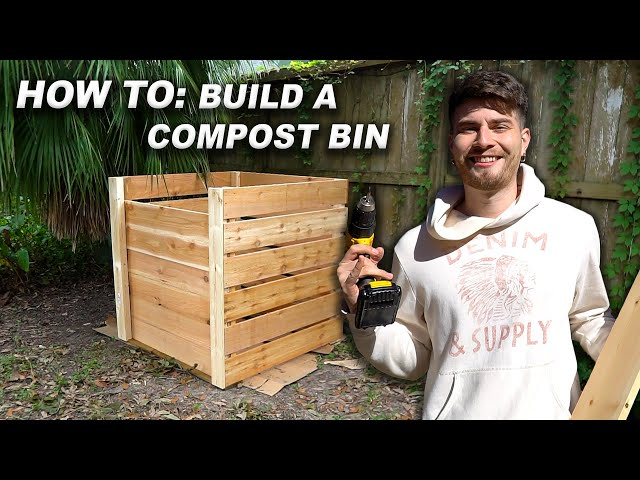 How to Build a Compost Bin! Simple, Step by Step, DIY Tutorial!