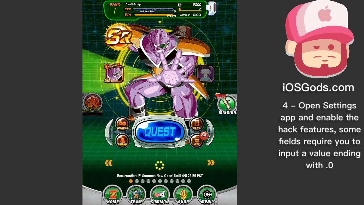 Dragon Ball Z Dokkan Battle v2 6 2 iOS Hack [UNLIMITED DAMAGE & MORE] -  iOSGods com