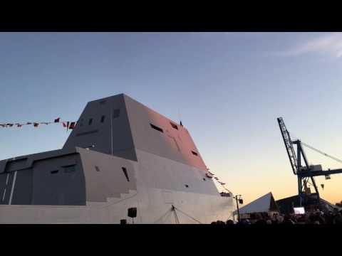 United States Ship Zumwalt commissioning