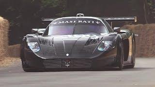 Maserati MC12 GT1 Centenario - Accelerations, Fly Bys & V12 Sound!