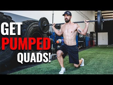 Bulldozer Quads 2 Ways to do Walking Lunges with a Barbell