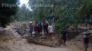 Tropical Storm Basyang made landfall, Surigao del Norte