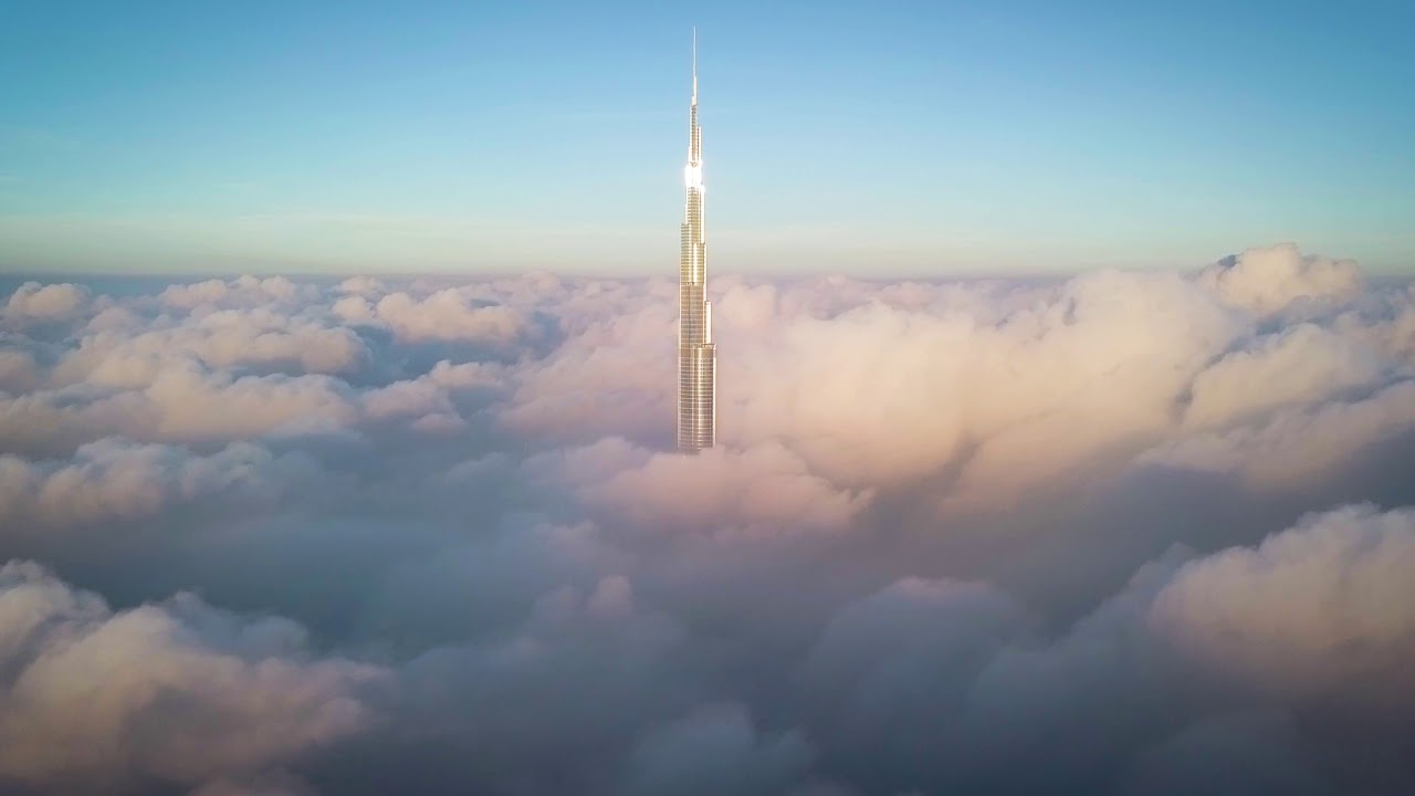 Burj Khalifa Above The Clouds Youtube