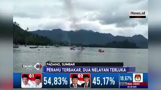 Perahu di Padang Terbakar, Penyelamatan 2 Nelayan Dramatis