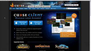 Curse - User created video for how to get wow addons from Curse
