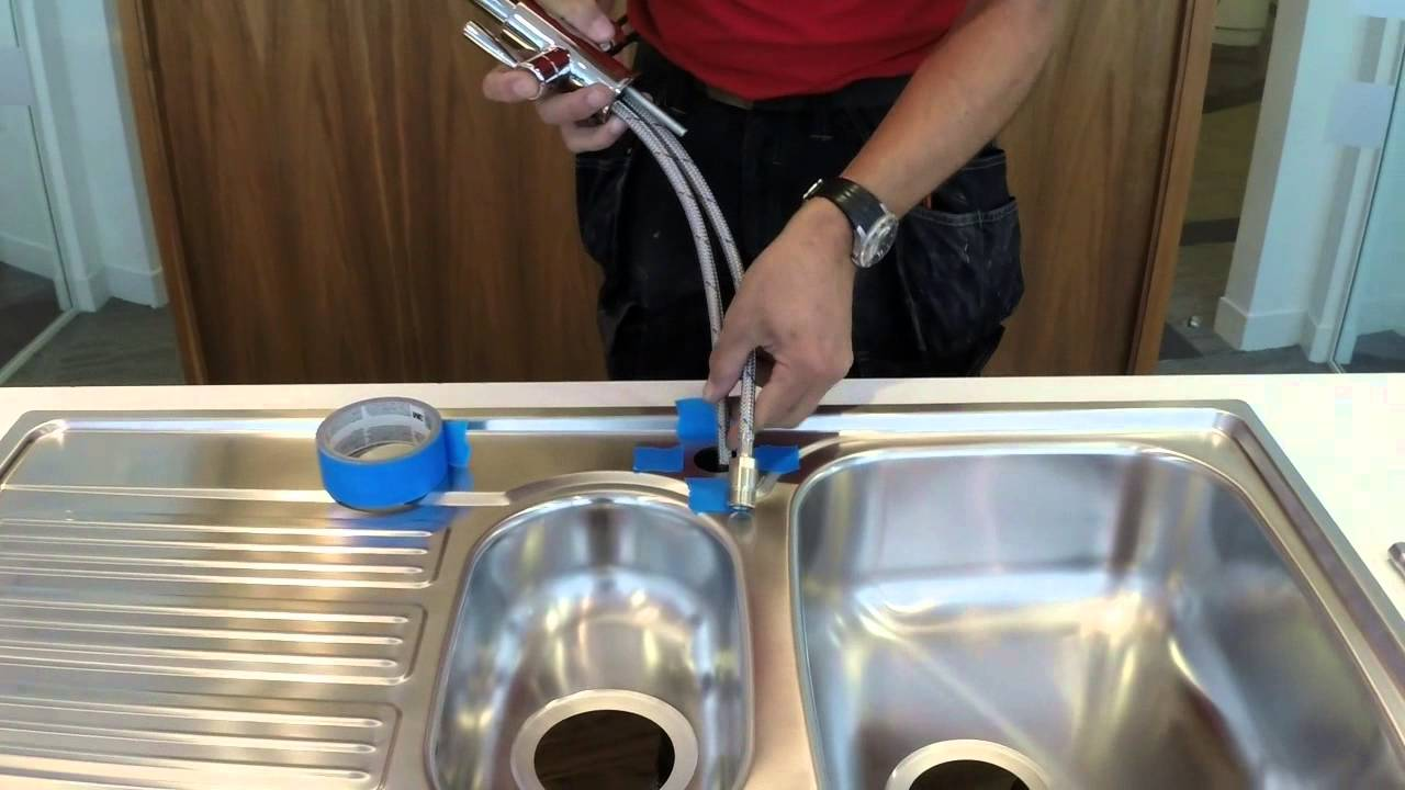 fit franke first installing a franke kitchen tap - Fitting Kitchen Sink