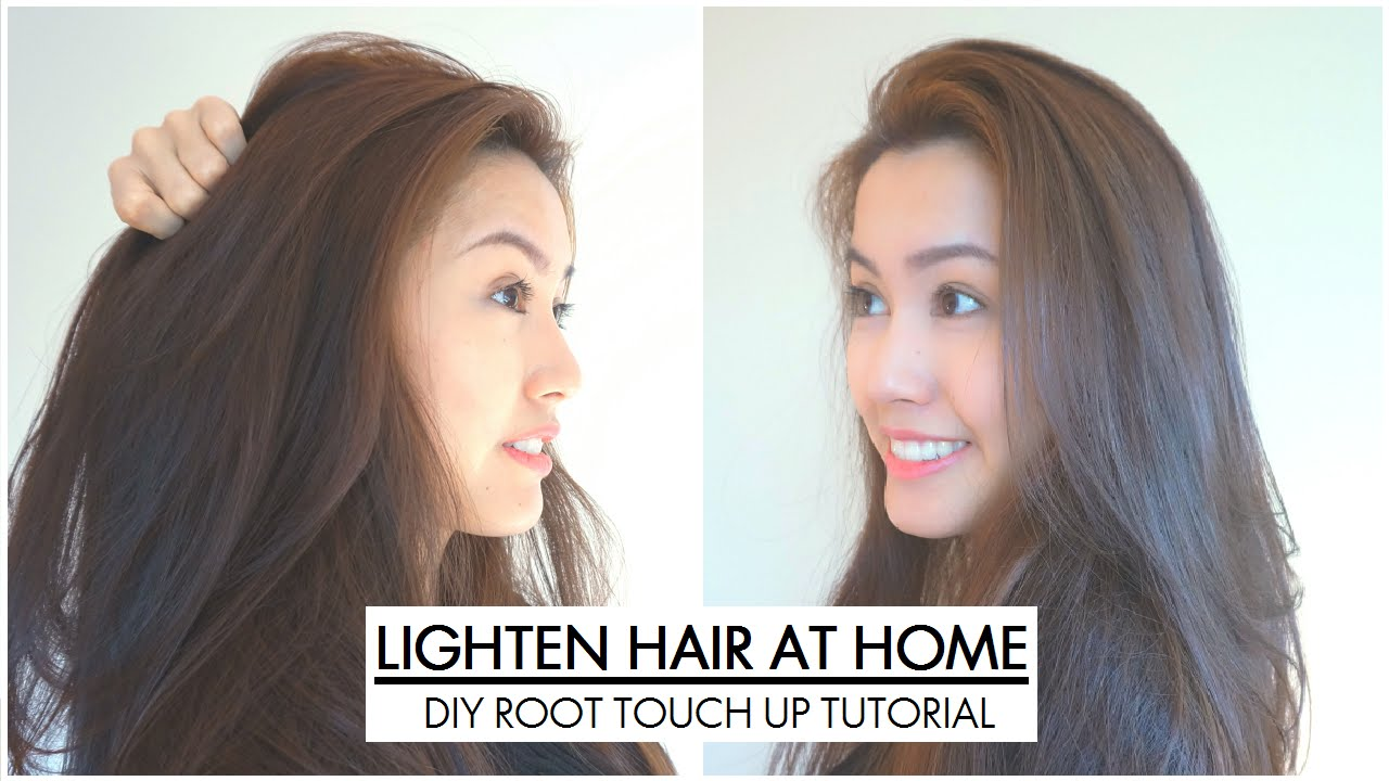 How To Root Touch Up Black Chestnut Brown Hair Color Loreal B61 You
