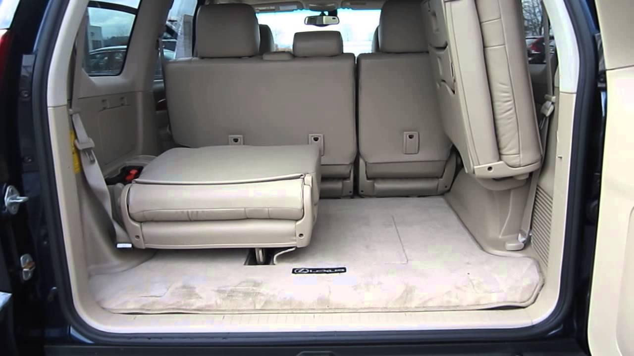 2005 lexus gx470 blue stock a3111a interior rear