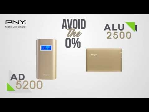 PNY PowerPacks ALU2500 & AD5200