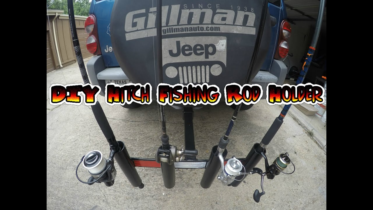 Diy hitch fishing rod holder youtube for Hitch fishing rod holder