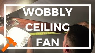 Fix a wobbly ceiling fan for only $0.03