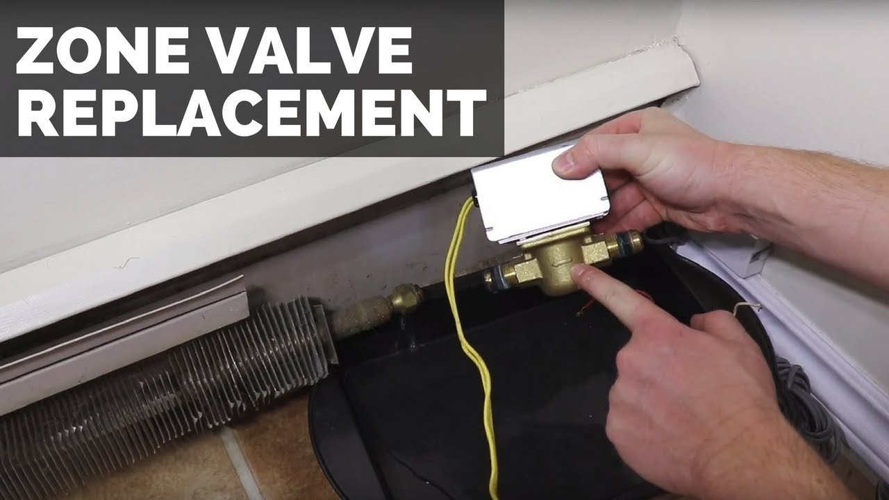 Zone Valve Replacement Hydronic Heating System Youtube Wiring Valves