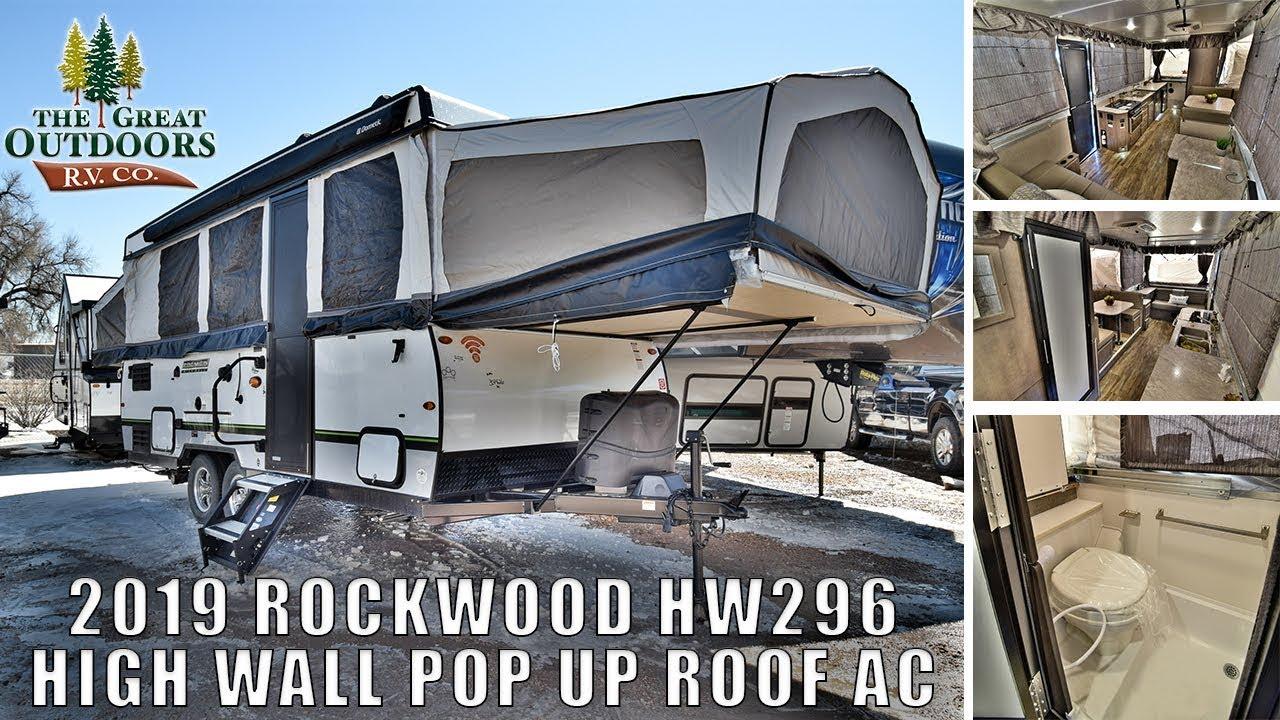 NEW 2019 FOREST RIVER ROCKWOOD HW296 Pop Up RV Camper Shower Toilet Combo  Colorado Sales