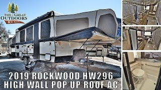 NEW 2019 FOREST RIVER ROCKWOOD HW296 Pop Up RV Camper Shower Toilet Combo Colorado Sales