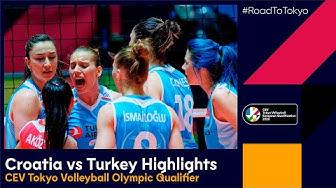 #RoadToTokyo | Croatia vs. Turkey 1-3  - Match Highlights