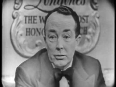 Longines Chronicles with Hartley Shawcross 1954.