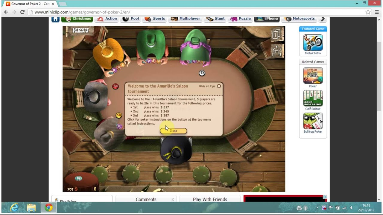 Governor of poker 2 miniclip download
