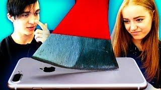 Подростки Реагируют на КРАШ-ТЕСТЫ iPhone 7!