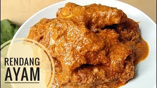 "Resep rendang ayam Bahan""nya : 1 kg daging ayam 750 ml santan encer 500 ml santan kental Bumbu rendang instan (aku pake indofood) Gula merah Daun ..."