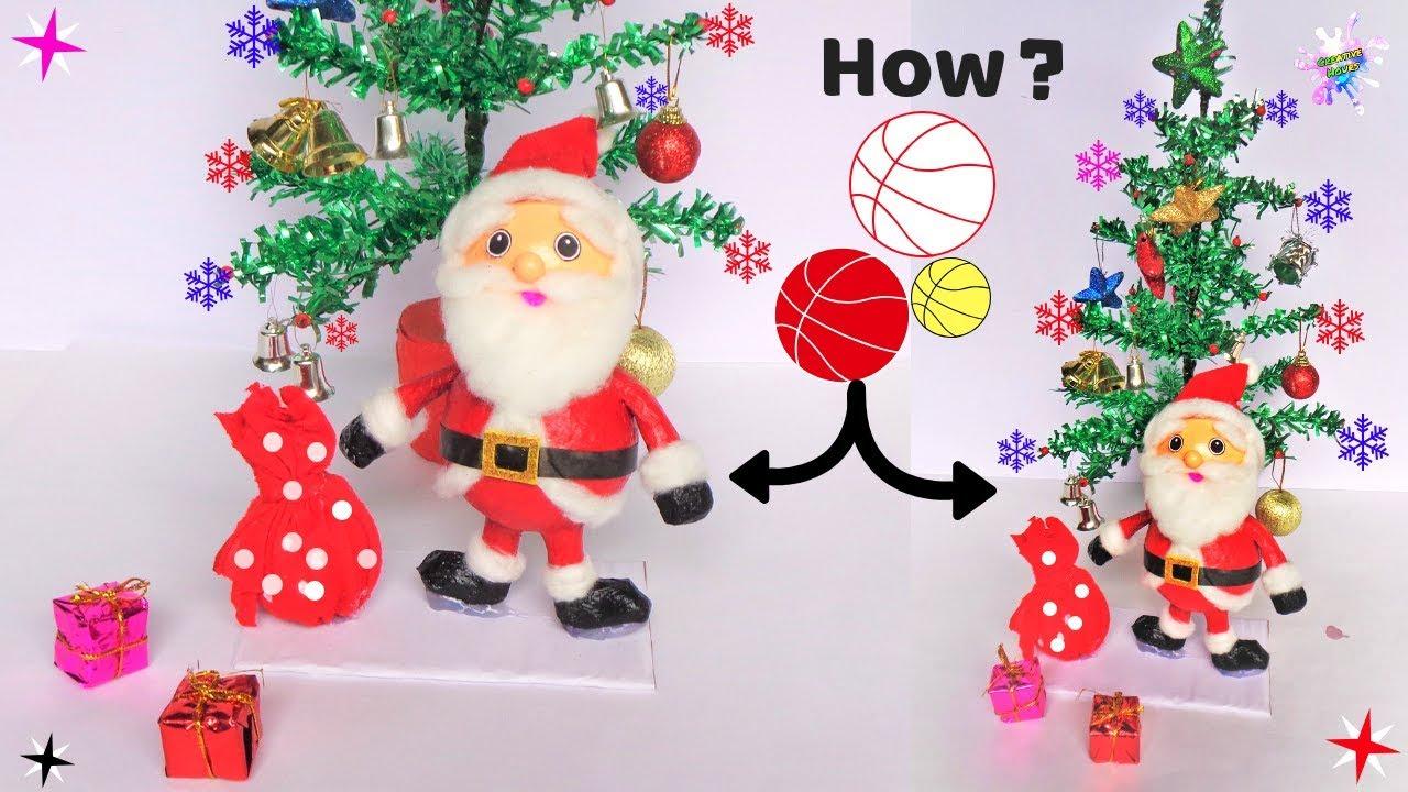 Diy Christmas Room Decor Ideas How To Make Santa Claus From Plastic