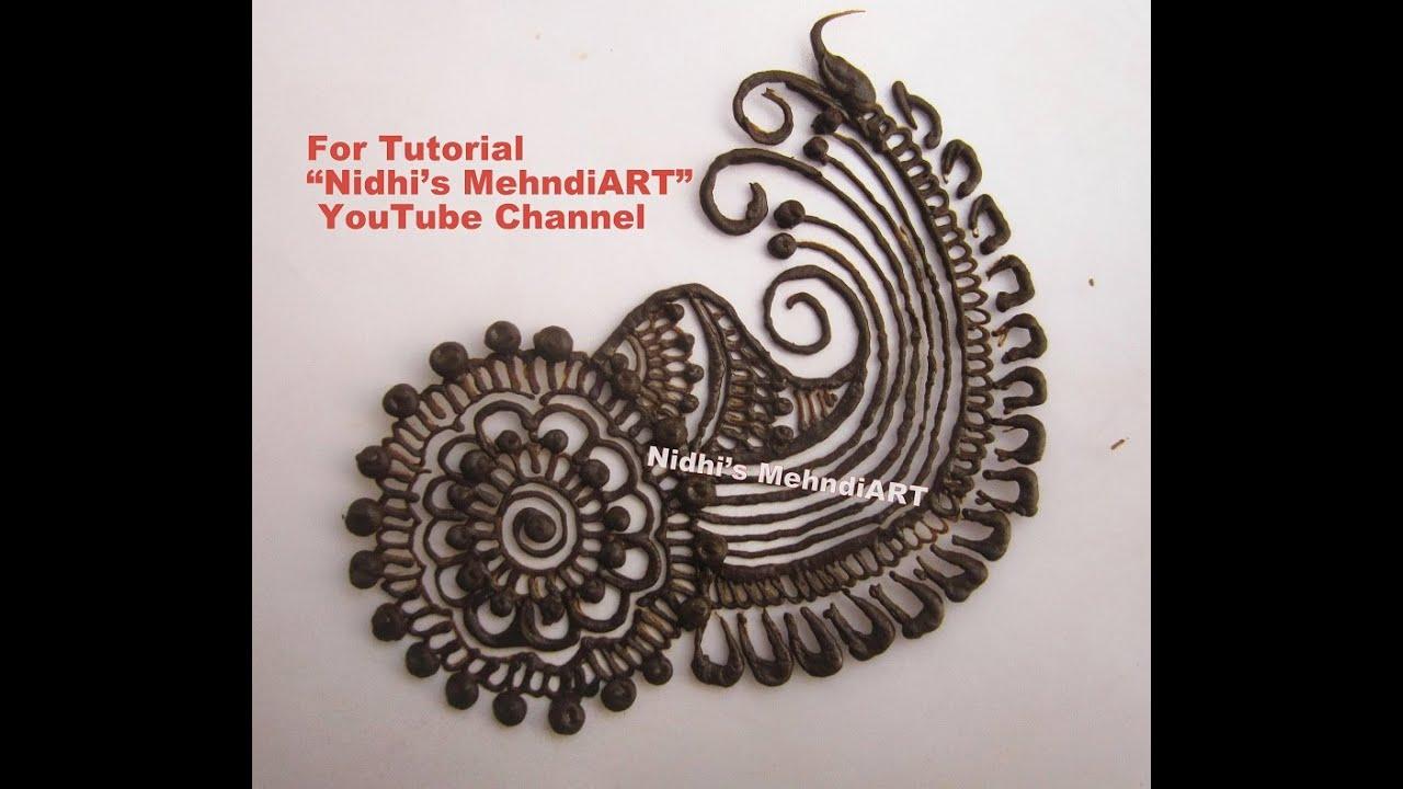 Mehndi For Practice : Simple arabic patch tattoo henna mehndi design tutorial