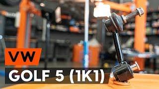 Kā nomainīt aizmugurējie stabilizatora atsaite VW GOLF 5 (1K1) [AUTODOC VIDEOPAMĀCĪBA]