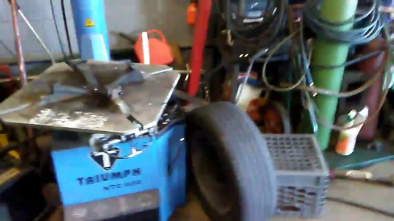 Triumph NTC-950 tire machine how to use and review on