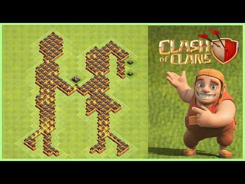 FUNNY | CLASH OF CLANS | BASE LAYOUT | 2019 | GIRL-BOY BASE