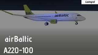 ROBLOX | airBaltic A220-100 Flight