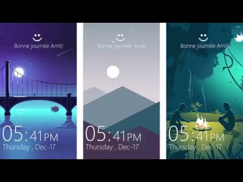 Windows 10 mobile new lock screen with swipable for Mobel lossek