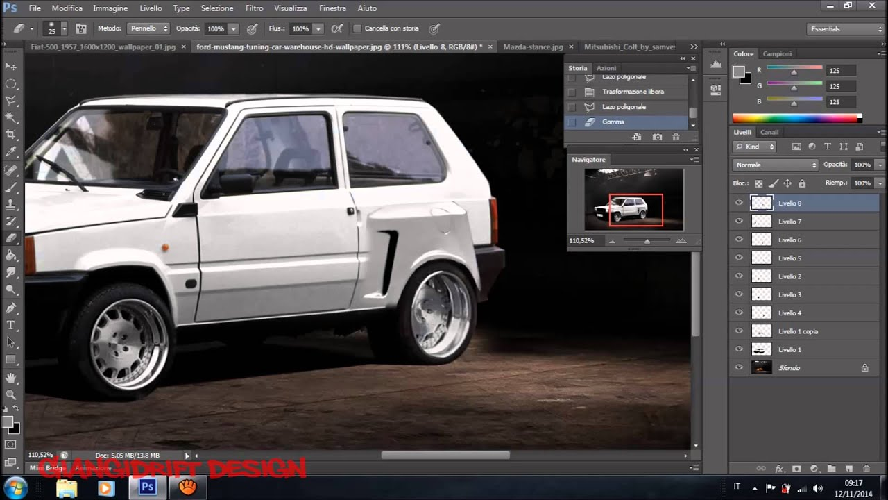 fiat panda fiat 500 virtual tuning photoshop youtube. Black Bedroom Furniture Sets. Home Design Ideas