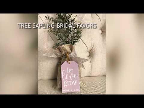 DIY Wedding Favors, Elegant Tree Sapling Favors, Eco Friendly, Wedding Tags from the Favor Loft