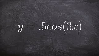 pre calculus learn how to graph cosine with a change in period y 0 5cos 3x