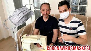 Evde Coronavirus MASKESİ YAPIMI  Pamuk Kumaştan ve Yıkanabilir. 5 DAKiKADA, Maliyeti 50 KURUŞA