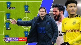 Predict how Frank Lampard uses Isco and Jadon Sancho in The Blue