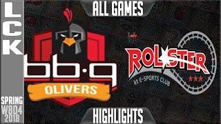 BBQ vs KT Highlights ALL GAMES | LCK Week 8 Spring 2018 W8D2 | BBQ Olivers vs KT Rolster