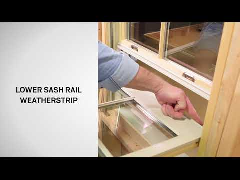 Identifying the Parts of E-Series Double-Hung Windows | Andersen Windows