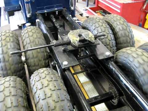 Les Model Peterbilt Axle And Drive Chain Youtube