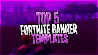 TOP 5 Fortnite Banner Template | Photoshop + FREE DOWNLOAD #1