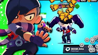 Gemming Edgar To Max | 0-500 With Randoms in Brawl Ball | My Gift For YOU