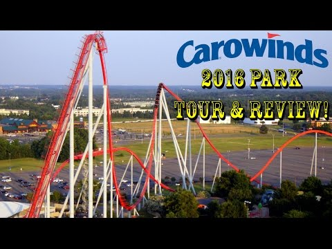 Carowinds Theme Park Summer 2016 Tour & Roller Coaster Reviews!