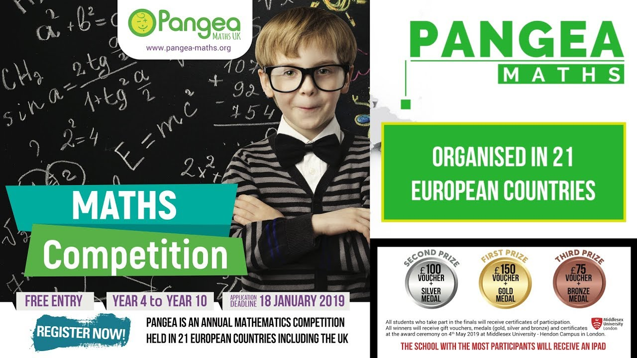 Pangea Maths UK - Mathematics competition that's fun and
