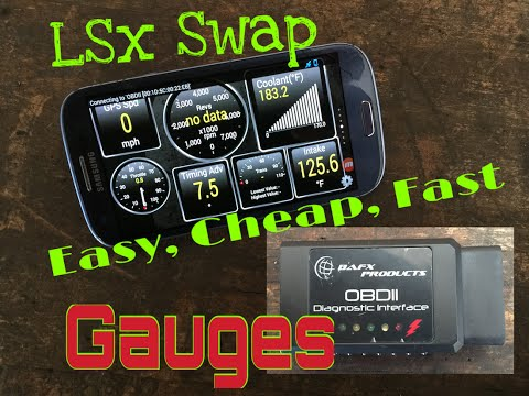 LSx Swap Gauges Simple, Easy, Cheap & Code Reader OBDII -Che